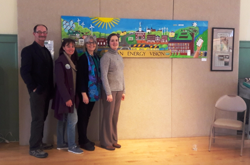 exeter clean energy mural NH w artivists
