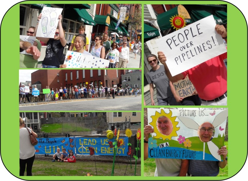 Exeter Dam Free Climate March 2017 montage