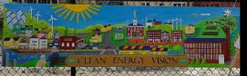 Clean Energy Vision mural 2x8 feet on signboard