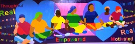 Racial Unity Team mural 2x6 on signboard